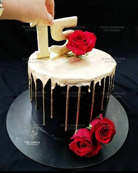 کیک تولد 15 سالگی
