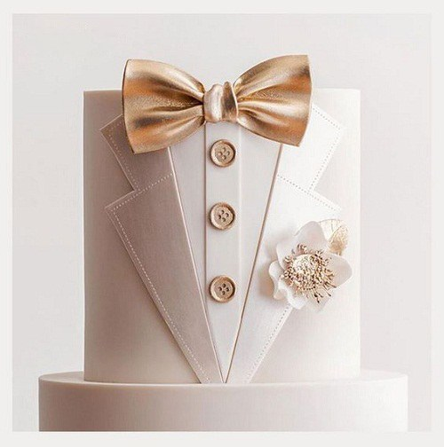 کیک تولد مردانه طرح دامادی