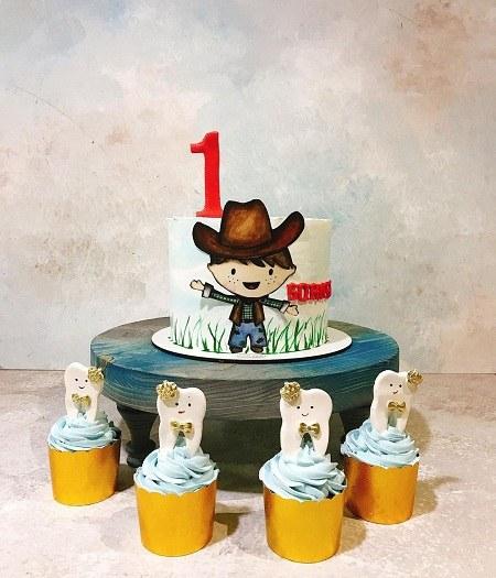 عکس کیک پسرانه یک سالگی