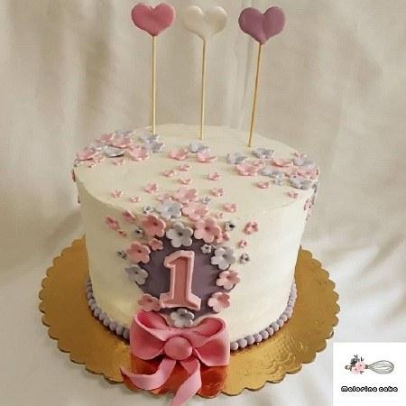 عکس کیک دخترانه یک سالگی