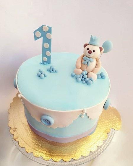 عکس کیک تولد یک سالگی زیبا