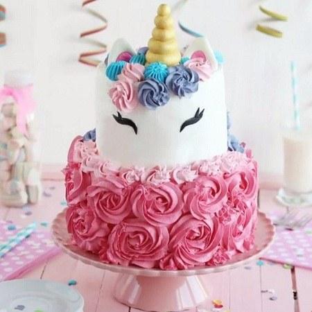 کیک تولد یکسالگی دختر بچه شیک