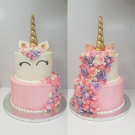 عکس کیک تولد یکسالگی مدل عروسکی