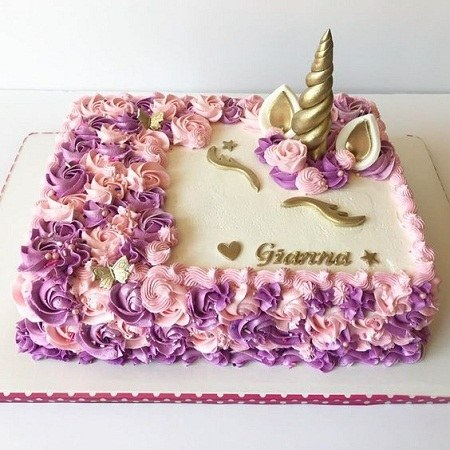 کیک تولد یکسالگی دخترونه 2021 جدید