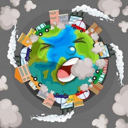 نقاشی آلودگی کره زمین