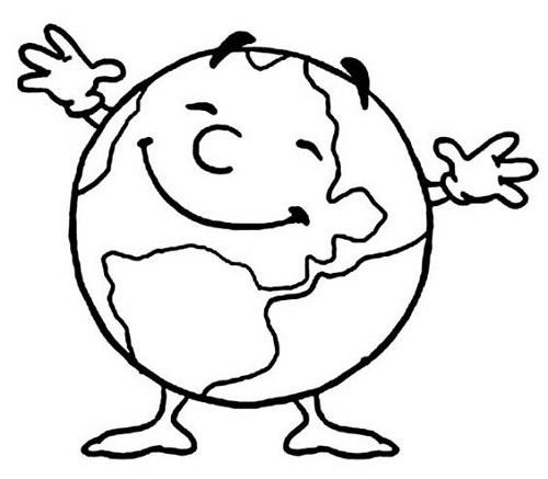 نقاشی کره زمین برای رنگ آمیزی