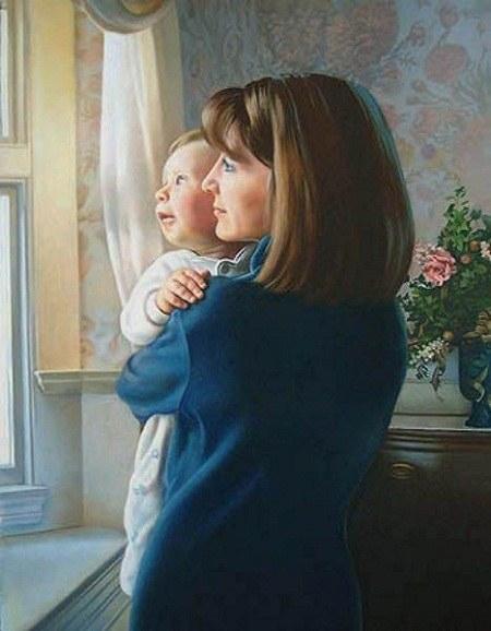 تابلو عکس مادر و فرزند