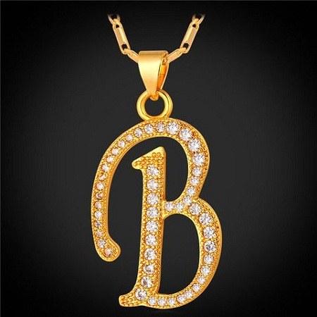 عکس گردن آویز حرف انگلیسی B