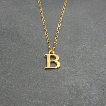 زنجیر طلای حرف B