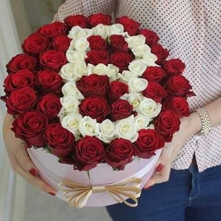 عکس حرف B با سبد گل عاشقانه