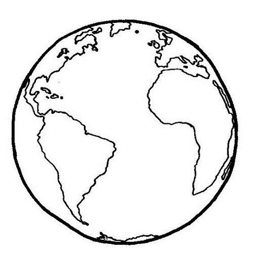 نقاشی کره زمین برای بچه ها