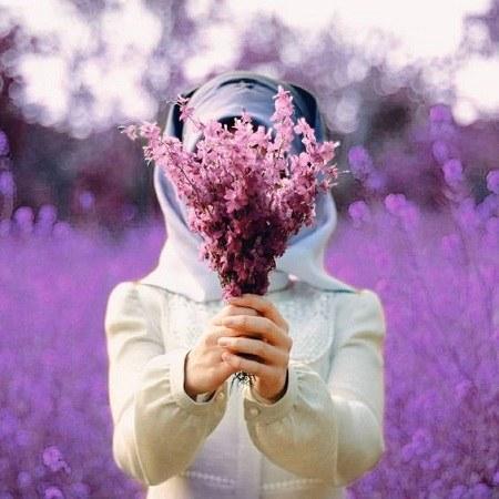 عکس پروفایل دخترانه گل بدست 1400 جدید