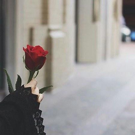 عکس دخترونه با گل
