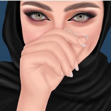 پروفایل فانتزی دخترانه باحجاب 2021 جدید