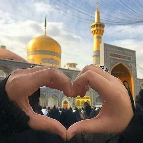 عکس نوشته امام رضا مشهد + متن زیبا