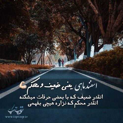 عکس نوشته اسفند ماهی یعنی