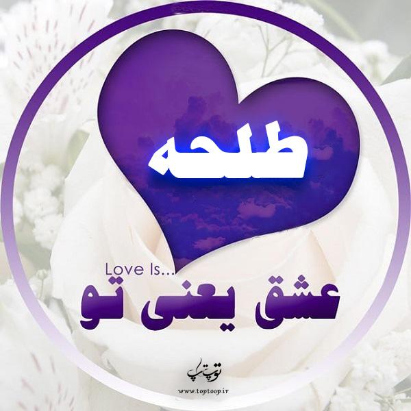 تصاویر عکس نوشته اسم طلحه