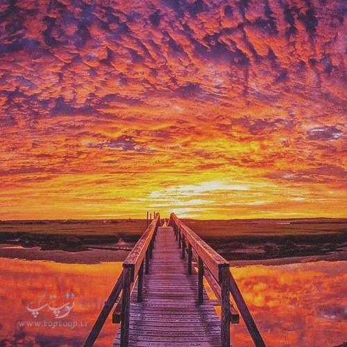 متن زیبا درباره غروب خورشید و دریا