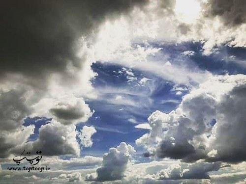 جملات زیبا و کوتاه درباره آسمون ابری