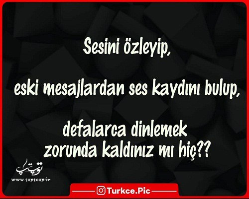 عکس نوشته ترکی استانبولی دلتنگی