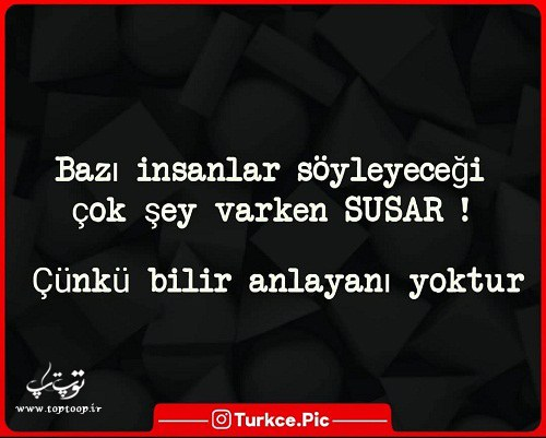 عکس نوشته ترکی استانبولی راجب سکوت