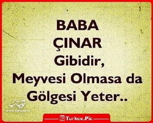 عکس نوشته ترکی استانبولی درباره پدر