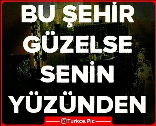 عکس نوشته ترکی استانبولی برای معشوق