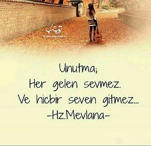 عکس نوشته ترکی استانبولی از عاشق شدن