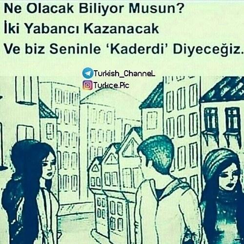 عکس نوشته ترکی استانبولی شکست عشقی