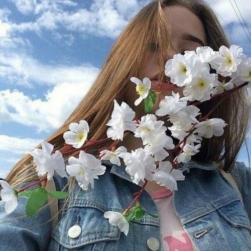 عکس پروفایل گل سفید دخترونه