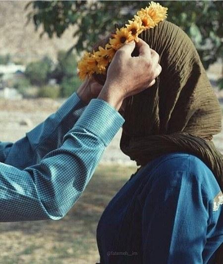 پروفایل عاشقانه گل بدون متن