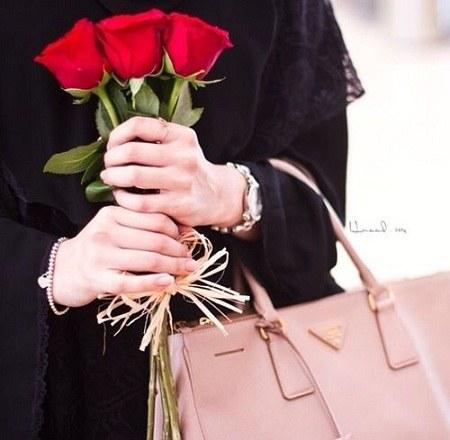 عکس پروفایل گل و دختر چادری