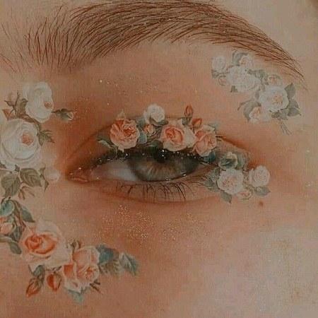 عکس پروفایل گل زیبا روی چشم دختر