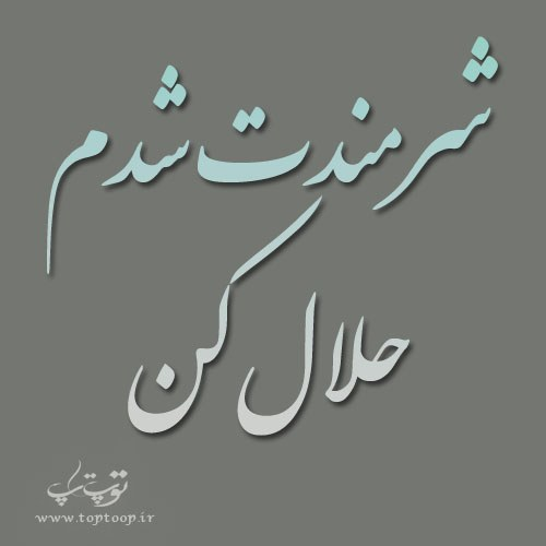 عکس نوشته شرمندت شدم حلال کن