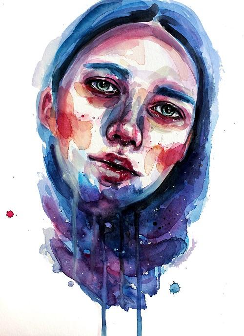 دختری که خون گریه میکند تصویر